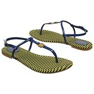 Josslyn Thong Sandals (Navy Patent) - Women's Sand