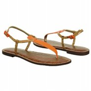 Gigi Sandals (Neon Orange/Cork) - Women's Sandals