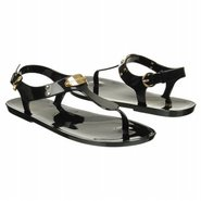 MK Plate Jelly Sandals (Black Jelly) - Women's San