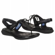 Aislyn Bow Tie Thong Sandals (Black) - Women&#39;s San