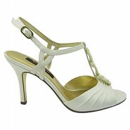 Vianey Shoes (Ivory Satin) - Women&#39;s Shoes - 7.5 M