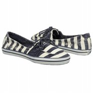 Mandarin Shoes (Pearl/Navy Stripe) - Women&#39;s Shoes