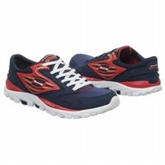 Go Run All Season Shoes (Navy/Red) - Men's Shoes -