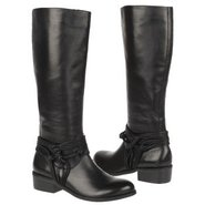 Wellington Boots (Black Leather) - Women's Boots -