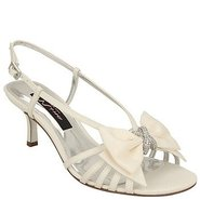 Georgia Shoes (Ivory Satin) - Women's Shoes - 6.5