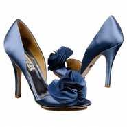 Randall Shoes (Blue Satin) - Women&#39;s Wedding Shoes
