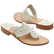 Navajo Sandals (Bone/White) - Women's Sandals - 9.
