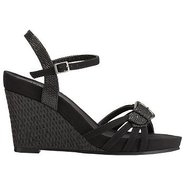 Plush Around Sandals (Black Combo) - Women&#39;s Sanda