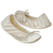 Molly Shoes (Ivory Spandex Slippe) - Women's Weddi