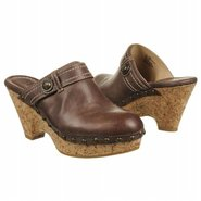 Audra Button Clog Shoes (Dark Brown Leather) - Wom