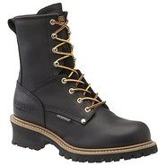 8  WP Plain Toe Logger Boots (Black) - Men's Boots