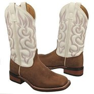Mesquite Boots (White / Tan Distress) - Women's Bo