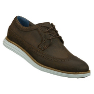 Gavin Shoes (Chocolate/Pale Blue) - Men's Shoes -