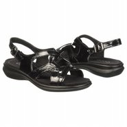 Breeze Cross Strap Sandals (Black Patent) - Women&#39;