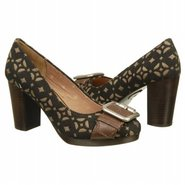 Maddox Stacked Pump Shoes (Black/Brown) - Women's
