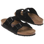 Arizona Soft Footbed Sandals (Black Suede) - Men's