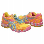 GEL-Flashpoint Shoes (Orng Flame/N Blu/Pnk) - Wome