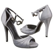 Devote Shoes (Silver Silk Shantung) - Women&#39;s Shoe