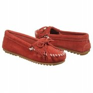 Kilty Suede Moc Shoes (Red Suede) - Women's Shoes