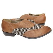 Kelsey Shoes (Cognac Houndstooth) - Women's Shoes