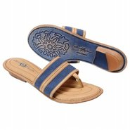 Natania Sandals (Denim Linen) - Women's Sandals -