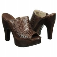 Tamara Woven SLide Shoes (Dk Brown Leather) - Wome