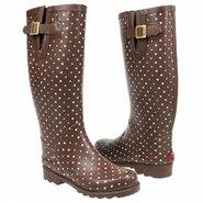Posh Dots Boots (Chocolate) - Women's Rain Boots-