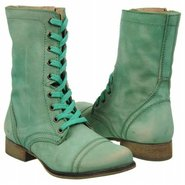Troopa Boots (Green Leather) - Women&#39;s Boots - 9.0