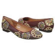 Saxon Flat Shoes (Burgandy Multi) - Women's Shoes