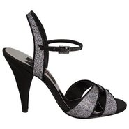 Delina Shoes (Silver / Black) - Women's Shoes - 11