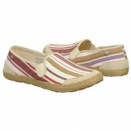 Delizah Shoes (Cream Stripe) - Women's Shoes - 10.