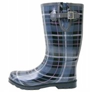 Seattle Boots (Blue Plaid) - Women's Boots - 15.0