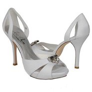 Passion Shoes (White Silk Shantung) - Women&#39;s Shoe