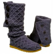 Lattice Cardy Boots (Navy) - Women's Boots - 11.0