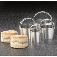 Plain Edge Round Biscuit Cutters, Set of 4