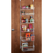 Deluxe 6-Shelf Adjustable Pantry Door Rack - 6-She