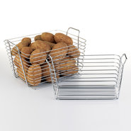 Chrome Wire Storage Basket - Large - Set of 2