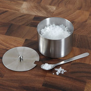 Stainless Steel Salt Cellar with Spoon - Stainless