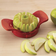 Dial-a-Slice Adjustable Apple Slicer & Corer - RED
