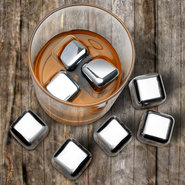Hard Ice Stainless Steel Ice Cubes - Set of 8, 1  