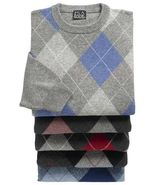 Lambswool Argyle Crewneck Sweater JoS. A. Bank