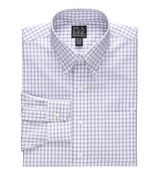 Traveler Tailored Fit Check Buttondown Collar Dres