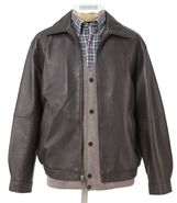 Executive Leather Bomber Jacket JoS. A. Bank