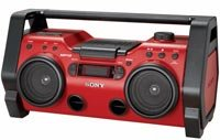 Heavy Duty CD Radio Red Boombox - ZS-H10CP