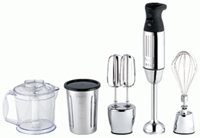 Chrome Immersion Hand Blender And Accessories Kit 