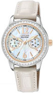 Eco-Drive Silhouette Crystal Mother Of Pearl Dial 