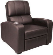 BellO Brown Leather Double Arm Reclining Chair - H