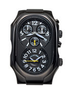 Signature Oversized Chronograph IP Black Case - 3B