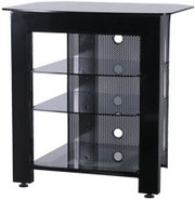 Black 4 Shelves Home Theater Stand - Black Finish