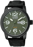 Eco-Drive Black Military Mens Watch - BM8475-00X